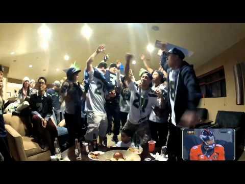 12th Man Reactions during Seattle Seahawks 2014 Super Bowl Vs Denver Broncos!! #GoHawks