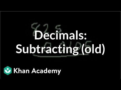 Subtracting Decimals (old)