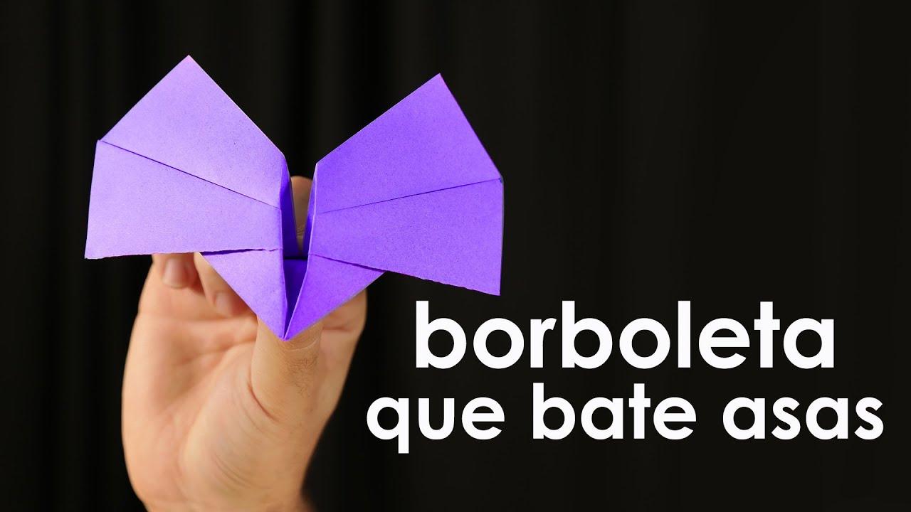 Borboleta que bate as asas origami f cil youtube for Que se necesita para criar tilapias