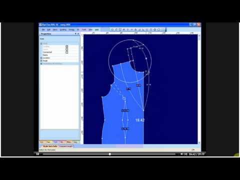 Optitex10 thiết kế áo cổ choàng dạng Vest (uploaded by trungdungpds)