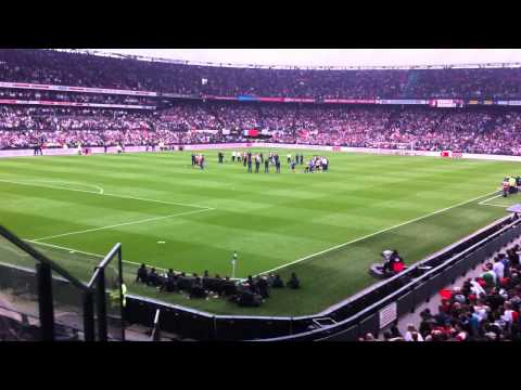 Afscheid Ronald Koeman in de Kuip, na afloop van Feyenoord - SC Cambuur 27 april 2014