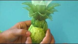 Fabrication d'un ananas en collant