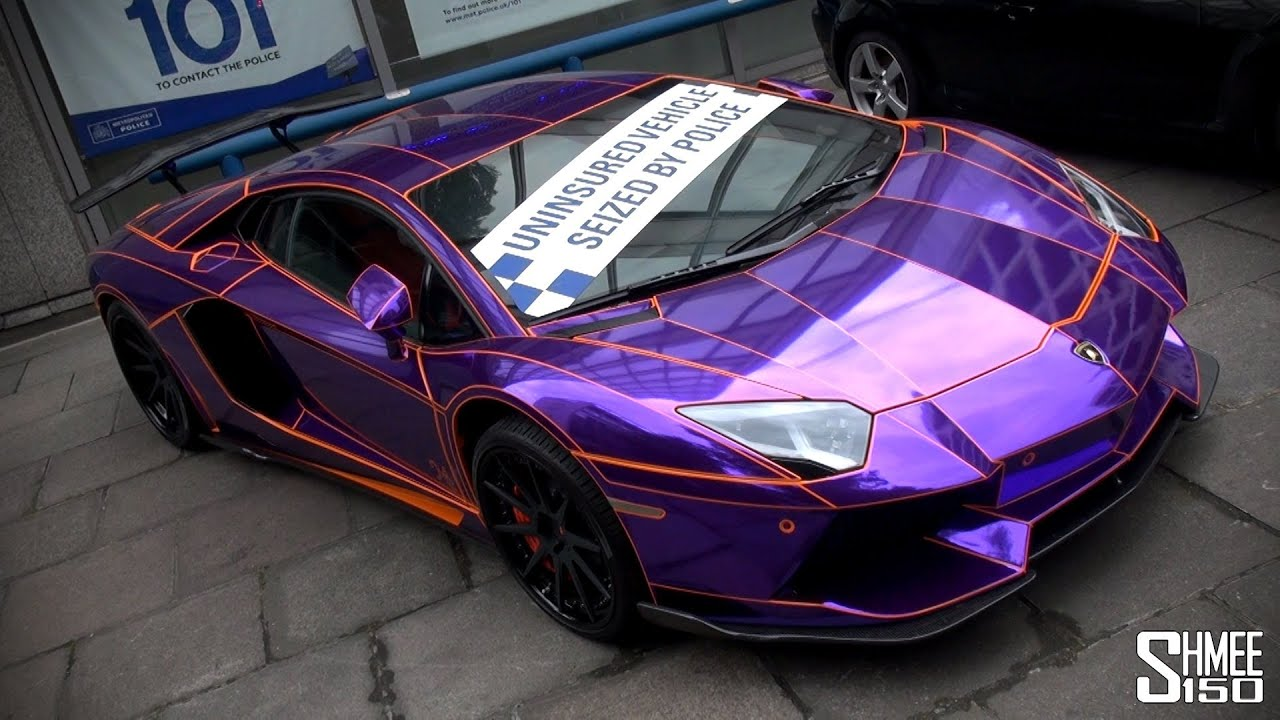 SEIZED: Purple-Chrome Lamborghini Aventador in London ...