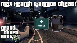 GTA 5: Max Health & Armor Cheat XBOX 360 & PS3!