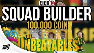 100K UNBEATABLE SUPER SQUAD! w/ PSG LUIZ and POGBA | FIFA 14 Ultimate Team Squad Builder