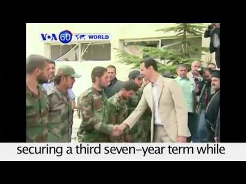 Syria: Bashar al-Assad wins landslide victory in presidential election. VOA60 World 06-05-2014