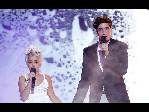 Abril y Xuso Jones cantan Just give me a reason de P!nk y Nate Ruess en Tu cara me suena Mini