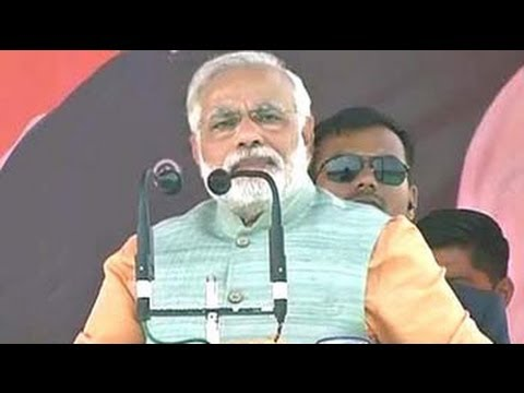 Narendra Modi attacks false promises in Congress manifesto