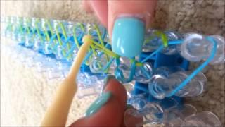 Rainbow Loom Single Bracelett And How To Attach A C/s Clip