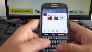 Como Crear Album En Facebook Samsung Galaxy S3 Español