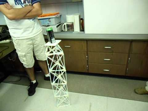 how to make a strong bridge out of 20 straws