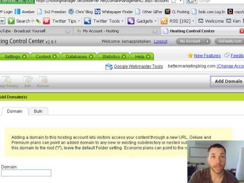 how to add a second domain to godaddy hosting account