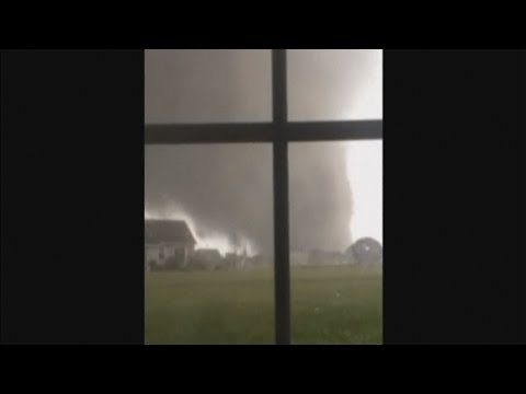 US storm footage: Tornado filmed making landfall in Illinois