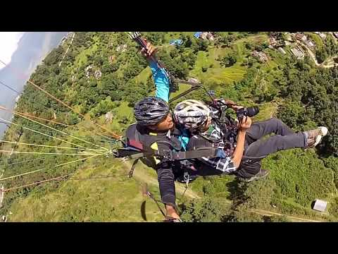 Paragliding Thermal flying Pokhara, Sarangkot Nepal Pilot-Subash 22th oct 2013 Takeoff