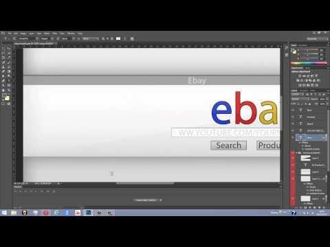 Free Ebay Youtube Banner PSD Template 2014