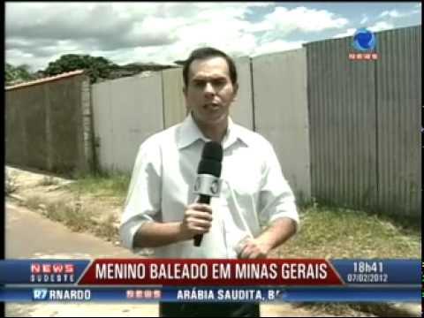 Menino leva 38 tiros de chumbinho ao entrar em terreno em Guaxupé (MG) - (HD)