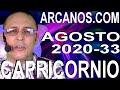 Video Horóscopo Semanal CAPRICORNIO  del 9 al 15 Agosto 2020 (Semana 2020-33) (Lectura del Tarot)