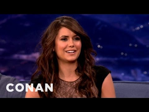 Nina Dobrev Gets Sex Scene Tips From Her Mom - CONAN on TBS
