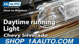 How To Replace Burned Out Daytime Running Light Chevy