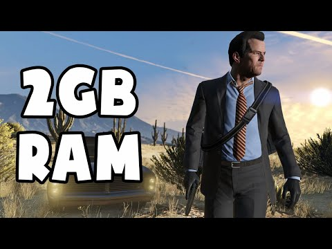 GTA 5  on 2GB RAM (Low End PC) (Grand Theft Auto V)