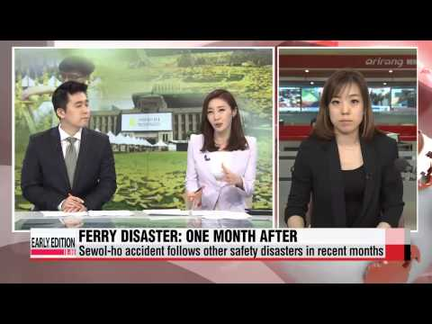 One month after Sewol-ho-ferry accident; Koreans still mourn for tragedy