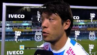"Vittor: ""Nos quedaba aguantar el partido"". Rafaela 2 - Lanús 1. Fecha 2. Primera División 2014"