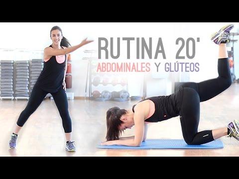 Rutina de cardio 20 minutos con abdominales y gluteos