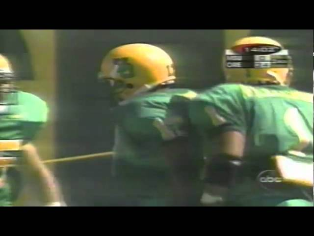 Oregon CB Rashad Bauman delivers a big hit vs. a MSU WR 9-08-98