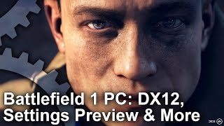 Battlefield 1 - Alpha PC Settings Comparison