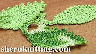 How To Crochet Leaf Oval Shape Tutorial 12