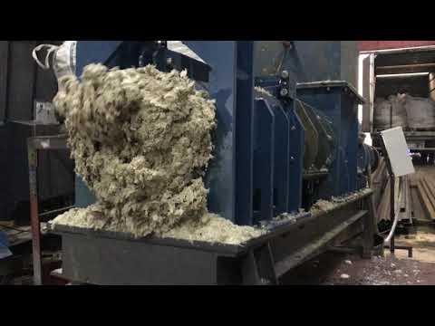 Ecopolymer Dewatering press KDM-360 for drying LDPE film