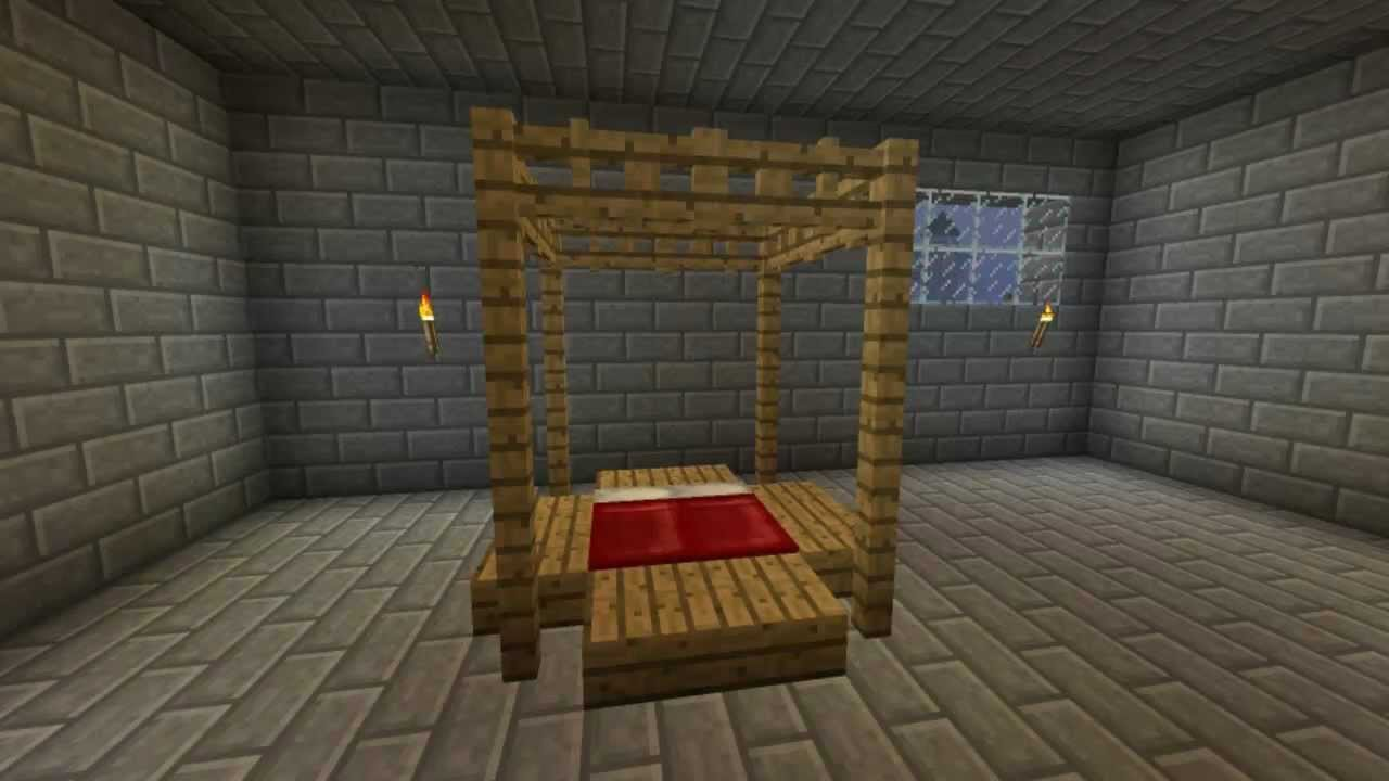 How To Make An Awesome Bed In Minecraft Minecraft Furniture Episode 18 Youtube