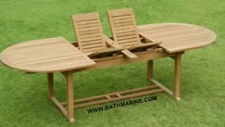 [BATHMARINE.COM Muebles madera de TECA TEKA Jardin Terraza Exteri] Video