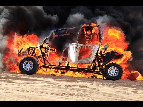 New Polaris RZR catches fire in Glamis Sand dunes.