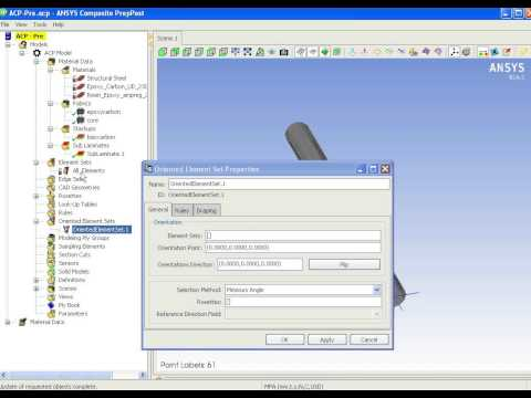 Composite analysis with Ansys Workbench with ACP tool part 2/3