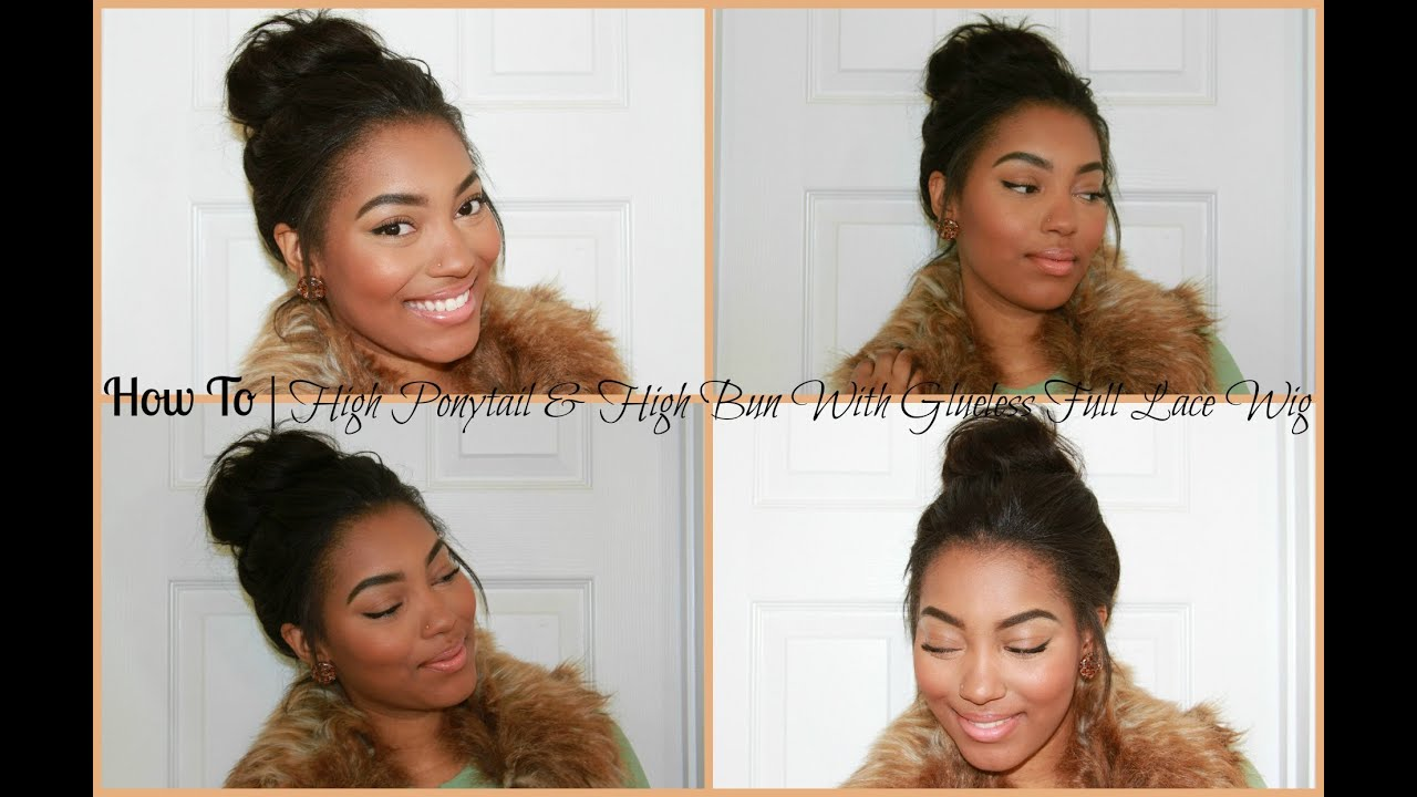 To | High Ponytail & High Bun With RPGShow Glueless Lace Wig - YouTube