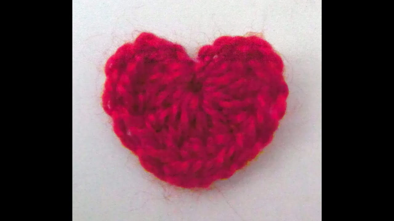 How to crochet / make / knit a heart tutorial - YouTube