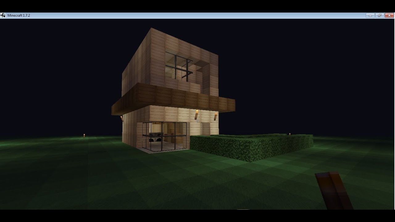 Minecraft casa moderna facil de hacer youtube for Casa moderna tutorial facil de hacer