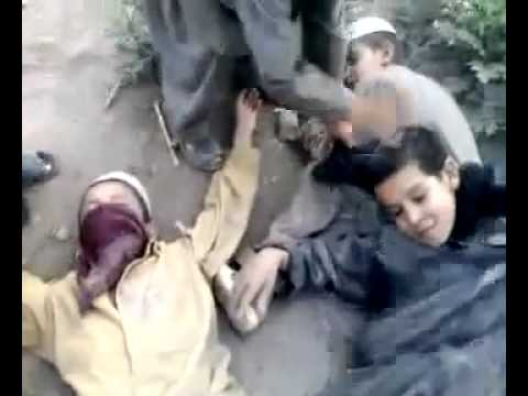 Afghanistan Kids Playing Suicide Bomber