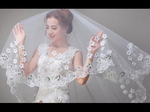 Những kiểu tóc cô dâu kết hợp với voan cưới đẹp cho nàng thêm duyên dáng trong ngày cưới