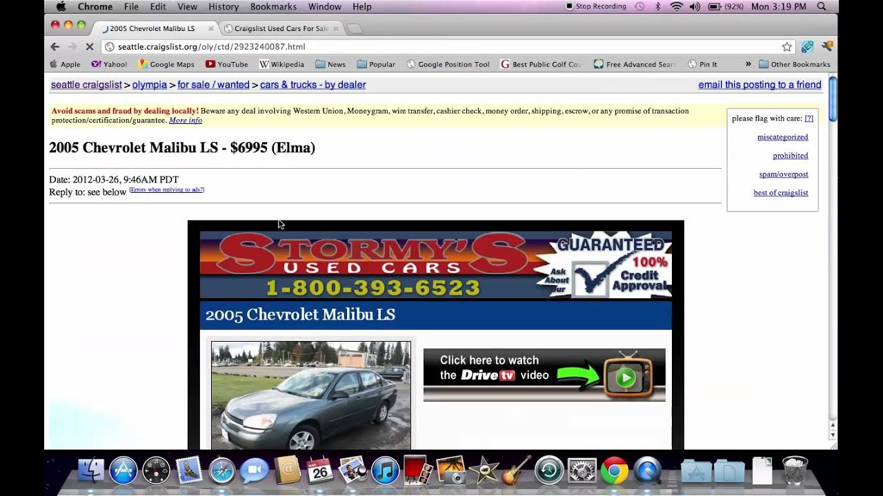 Craigslist Seattle Used Cars Washington Trucks Vans And Suvs Online Youtube
