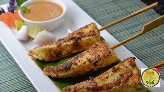 Paneer Satay with Peanut Sauce ..