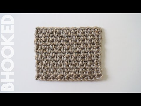 How to Crochet the Moss Stitch (Granite Stitch & Linen Stitch)