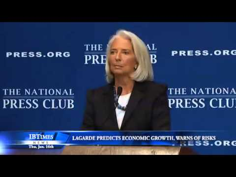 Lagarde Predicts Economic Growth, Warns of Risks