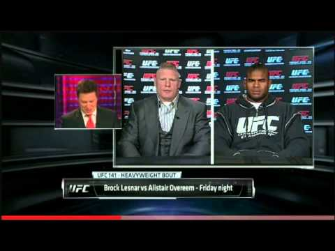 BROCK LESNAR VS ALLISTAIR OVEREEM INTERVIEW