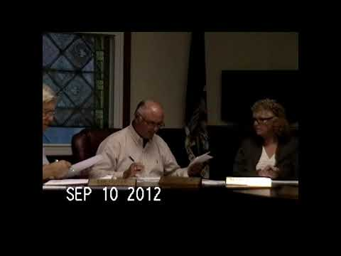 Chazy Town Board Meeting 9-10-12