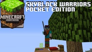 Minecraft Pocket Edition Skyblock Warriors Map iPhone/iPod/iPad/Android