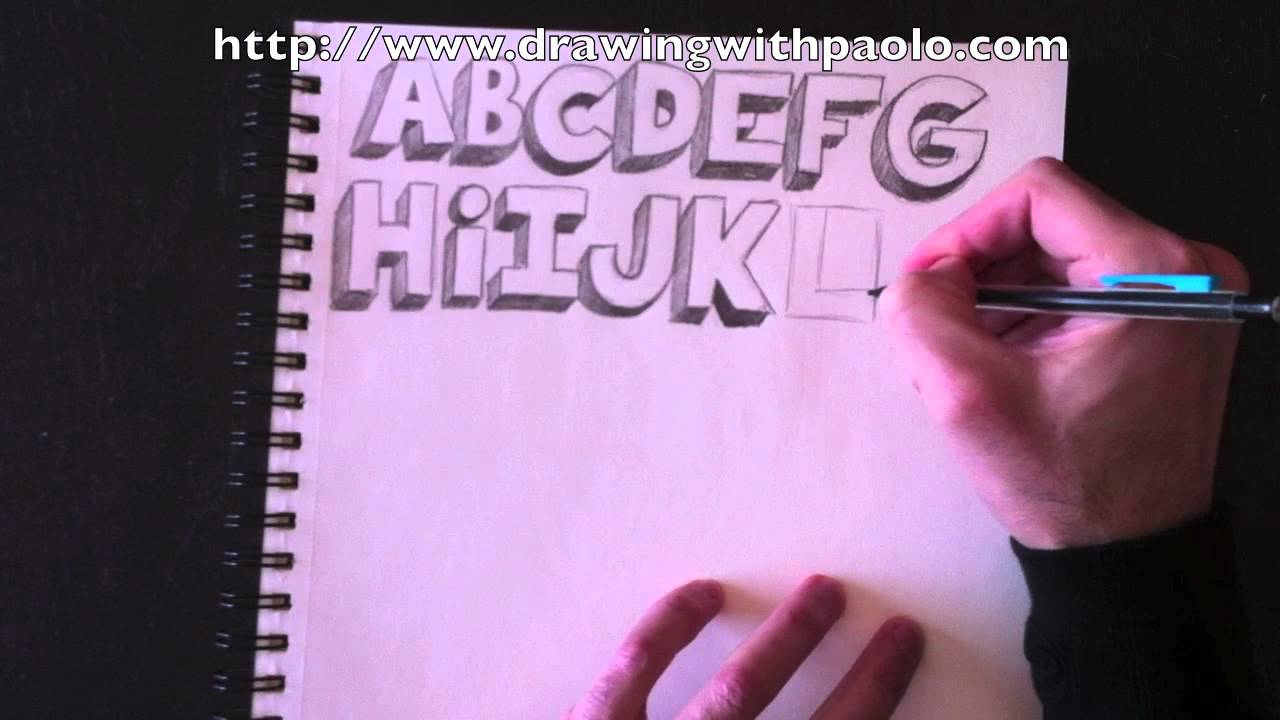 Drawing the alphabet in 3d with paolo morrone youtube - Dessin de tag alphabet ...