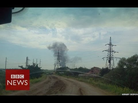 Ukraine helicopter shot down near Sloviansk - 14 dead - BBC News