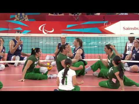 Sitting Volleyball - USA vs BRA - Women's Preliminaries Pool B - London 2012 Paralympic Games